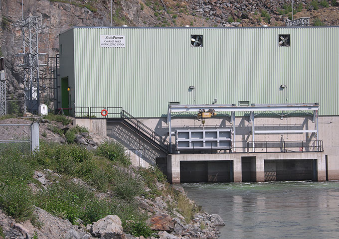 Outside hydroelectric station